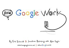 """How Google Works"" by Eric Schmidt and Jonathan Rosenberg"