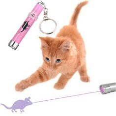 Deluxe Cat LED Laser Toy With Mouse Pointer