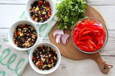 Honey Cilantro Black Bean Salad from The Lavender Apple. Fresh and healthy recipe.