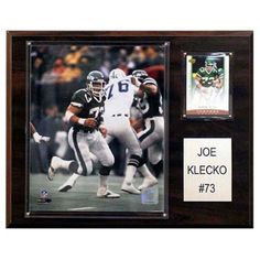 C and I Collectables NFL 15W x 12H in. Joe Klecko New York Jets Player Plaque - 1215KLECKO