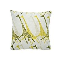 THEN AND NOW | Made.com | Savana Large Giraffe Print Scatter Cushion, Yellow, Yellow