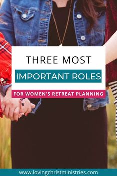 Feel called to organize and lead a Christian women's retreat? Fill these 3 important roles in your planning team for less stress and more Jesus! #retreatplanning #christianwomen
