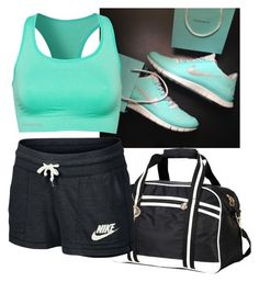 """""""36. Gym Outfit"""" by melhayman ❤ liked on Polyvore featuring Pure Lime and NIKE"""