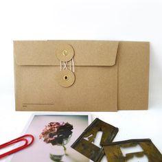 KRAFT Envelope with String
