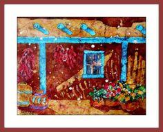 Santa Fe Watercolor Adobe by MarthaKislingArt