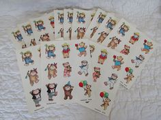 Lot of Vintage Stickers by Dennison 12 pages of stickers in