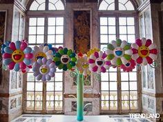 Takashi Murakami at Le Château de Versailles by reva