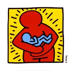 """'Mother Holding Baby"""" by Keith Haring. The most beautiful representation of motherhood I've seen to date. Contact me if you know a better one."""