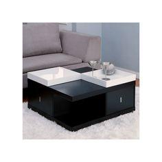 Hokku Designs Coffee Table with Tray Top
