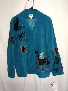 JACKET COAT EMBROIDERY SZ XL BLAZER GRAFF JACKETS NEW our store link http://stores.ebay.com/store4angels?refid=store come see our store front always have great sales