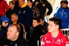 <3 Tanner Foust <3: Pre-race driver's meeting - European Rallycross - Round 1: Great Britain