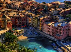 Vernazza (Latin: Vulnetia) is a town and comune located in the province of La Spezia, Liguria, northwestern Italy.