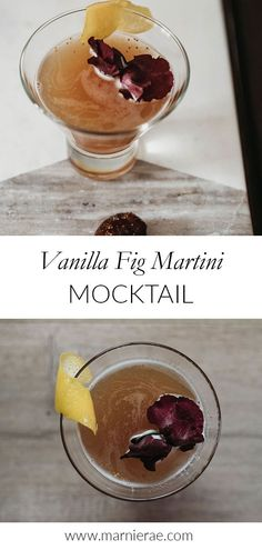 Apr 1 2020 - The Vanilla Fig Martini mocktail is a great nonalcoholic drink to add to your bar menu. Sweetened with hon. Best Mocktail Recipe, Easy Mocktail Recipes, Summer Drink Recipes, Summer Drinks, Cocktail Recipes, Triple Sec, Mojito, Non Alcoholic Cocktails, Recipe Generator