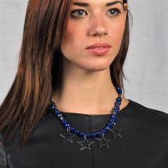 Κολιέ με σκούρο μπλε jade Jade, Fashion, Moda, Fashion Styles, Fashion Illustrations