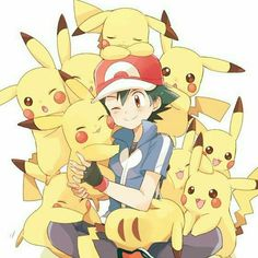Ash and Pikachu ♡