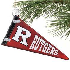 Rutgers Scarlet Knights Glass Pennant Ornament via @Rutgers Football #Rutgers #RFootball