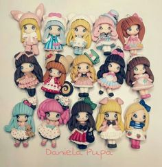 ... Polymer Clay People, Polymer Clay Figures, Cute Polymer Clay, Cute Clay, Polymer Clay Dolls, Polymer Clay Projects, Polymer Clay Charms, Polymer Clay Jewelry, Clay Crafts