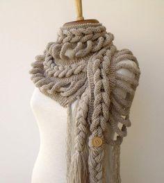 Brasil Tricô e Crochê - Handmade encomendas: Xale gola Duanni