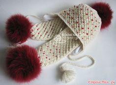 "Зимний комплект ""Звездочка"" для любимой белочки (авторская работа). Добавила фото на модели. Baby Set, Kids Hats, Beret, Knitted Hats, Christmas Hats, Braids, Winter Hats, Knitting, Children"