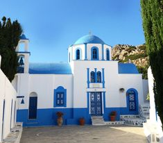 Agios Georgios church in Kasos Island, Dodecanese, Greece Greece, Landscapes, Island, Mansions, House Styles, Home Decor, Greece Country, Paisajes, Scenery
