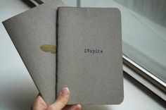 Make your own Moleskin notebooks. Now, I need a sewing machine, again...