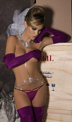 Purple lingerie