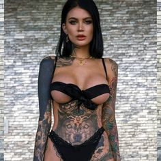 Hot Tattoos, Girl Tattoos, Ladies Tattoos, Gorgeous Lingerie, Sexy Lingerie, Hot Tattoo Girls, Inked Girls, Nice Tops, Gorgeous Women