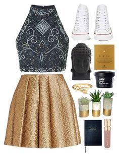 """""""Untitled #14"""" by onewithbirds ❤ liked on Polyvore featuring Creatures Of The Wind, Dogeared, Nearly Natural, Converse, Bling Jewelry, Smith & Cult and Sloane Stationery"""