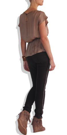 Plaited Leather Pants on TROVEA.COM