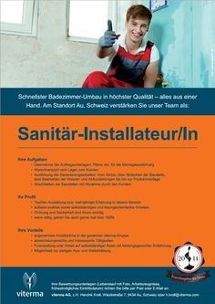 Sanitär-Installateur/In am Standort Au, Schweiz