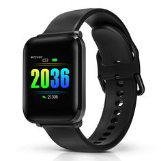 [Blood Oyxgen] BlitzWolf® BW-HL1 Heart Rate Blood Pressure Monitor 8 Sports Mode IP68 Waterproof Multi-language Display Health Care Smart Watch - Black #men #samsung #android #kids Android 4.4, Android Watch, Army Watches, Cool Watches, Unique Watches, Popular Watches, Wrist Watches, Luxury Watches, Fitness Tracker