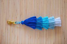 Tassel keychain Tassel bag charm Pom pom by PearlandShineJewelry