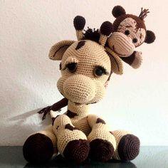 Häkelanleitungen - Giraffe Nick und Affe Paul crochet Anleitung PDF - ein Designerstück von Colitashop bei DaWanda