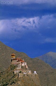 Fortress-like Yumbu Lakang, Tibet's oldest castle, near Tsedang