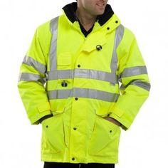 Beeswift Hi-Vis Elsener 7 in 1 Jacket Saturn Yellow