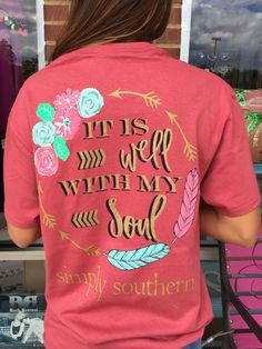 "Simply Southern ""It Is Well With My Soul"" Tee - Rust from Chocolate Shoe…"