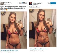 James Fridman is the ultimate internet troll. He uses his amazing talent in Photoshop to alter internet users' personal photos. Funny Photoshop Requests, Funny Photoshop Fails, Photoshop Help, James Fridman, Shops, Fresh Memes, What Happens When You, Sem Internet, Ta Tas