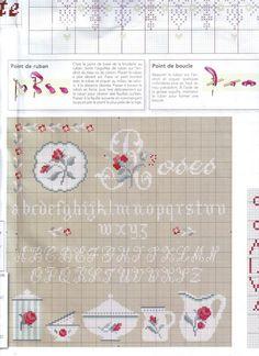rose - point de croix - digoin - cross stitch - Blog : http://broderiemimie44.canalblog.com/
