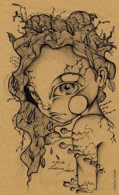 """""""Ricciolina"""" Design of personal character. #illustration Ludovica Sodano."""