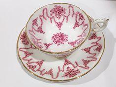 Coalport Tea Cup and Saucer Tea Cups and Saucers by AprilsLuxuries
