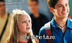 I used to love this show! I miss the old Disney Channel.--holy cow, I used to think Phil looked so old. He's a baby!!