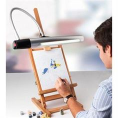 This lamp is no longer available, but the replacement bulbs can still be purchased below. This is beautifully designed powerful artist lamp which is chic and modern. Task Lamps, Art Supplies, Bulb, Creative, Silver, Rotation, Design, Exactement, Private Room