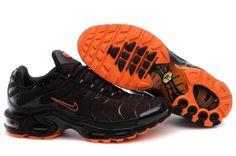 chaussures hommes Nike Air Max TN Noir Orange