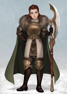 f Halfling Paladin Noble Hvy Armor Cloak Glaive urban City winter snow Community Lowenael lg Cat Character, Fantasy Character Design, Character Creation, Character Concept, Character Reference, Girls Characters, Dnd Characters, Fantasy Characters, Female Characters