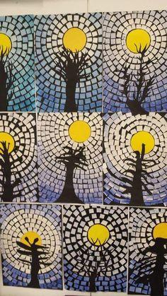 paper mosaic crafts for kids   funnycrafts