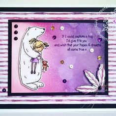 Designed by Sarah Bell using Little Claire Designs Hugs stamp and Making Cards Magazine Papers