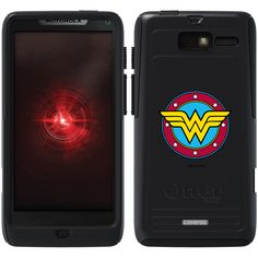 Wonder Woman - Emblem Circular Wonder Woman design on OtterBox® Commuter Series® Case for Motorola Droid RAZR M in Black    THIS IS SOOO COOL. I WANT IT FOR MY PHONE