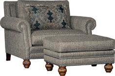 Mayo 4300 Chair & Ottoman - Tuscan Tweed