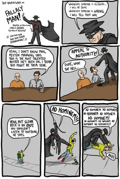 The Adventures of Fallacy Man - Existential Comics [Click through to read the rest. This is one of my new favorite things.]