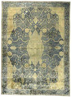 Oushak Carpet Turkish Rugs Handmade Oriental Blue Green C Rug